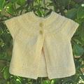 newborn lemon cotton cardigan