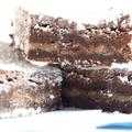 Chocolate, walnut and Caramel sauce brownies