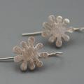 Sterling Silver Splat Earrings