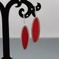 Red Elegance Sterling silver Earrings