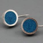 Bright Dots Sterling silver and Resin Earrings