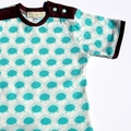 Turquoise & Brown Boys Retro Bird T shirt ~ Size 000