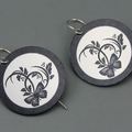 Asian Style Butterfly Detail Printed earrings