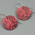 Funky Bright Flower Printed earrings