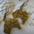 australia day earrings bronze tone earring