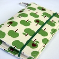 Mobile Phone (iPhone) Wallet - Green Apples