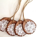 Wood and Vintage Lace Christmas Ornaments