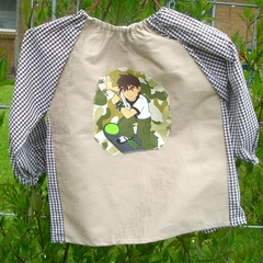 Art smock for 1 to 2 year old - Ben 10 brown. T15.