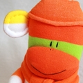 Sock Monkey Orange Stripes, Soft Toys