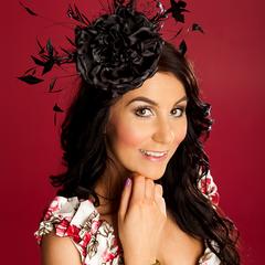 Elegant Black Headpiece, Fascinator, Wedding, Races