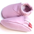 Rose pink Leather 0-6m soft soled shoe