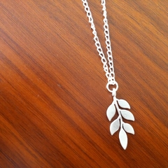 Petite Leafy Branch in Silver