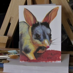 Bilby greeting card Australian wildlife art, cute animal desert