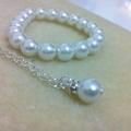 Little girl bracelet and simple elegant necklace jewellery gift set