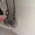 Hundreds of Dots - Oxidised Sterling Silver Earrings