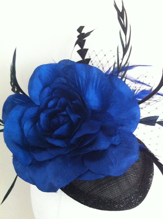 Elegant Royal Blue   Black Headpiece e7058dea98f