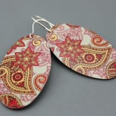 Paisley Printed earrings