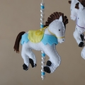 Riding the Carousel ~ 4 carousel horses ~ mobile