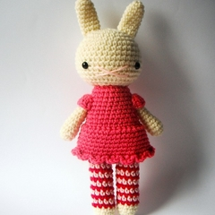 little silvia .. amigurumi rabbit toy animal crochet plushie handmade bunny