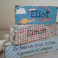Custom Birth Word Block Set