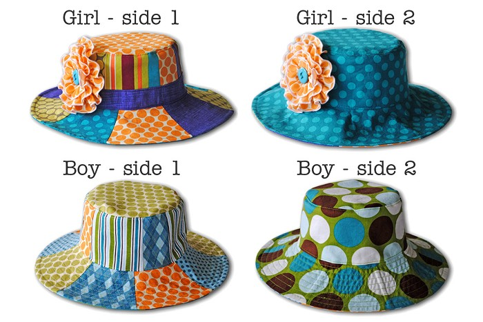 Patchwork Hat Pattern PDF Sewing Pattern Sun Hat for Boy & Girl ...