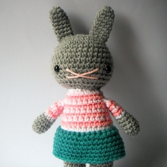 little helena .. amigurumi rabbit toy animal crochet plushie handmade bunny