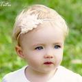Vintage Shabby Flower on Skinny Headband Baby Child Girls