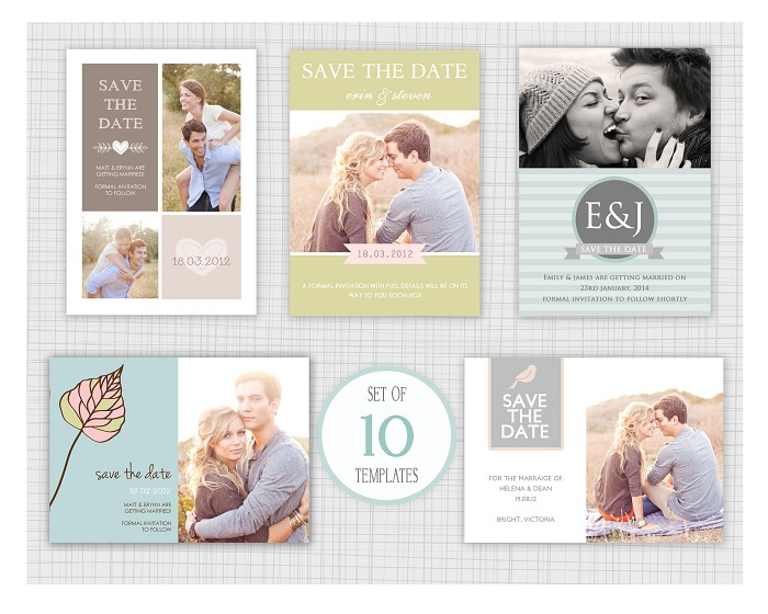 10 PSD Save The Date wedding card templates Mini Pack 11 – Save the Date Card Template