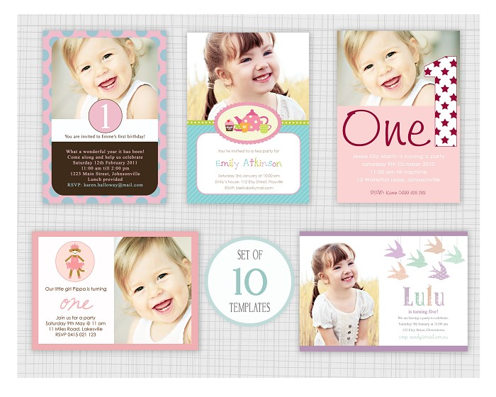 1st Birthday Invitation Templates Psd Birthday Invitation – First Birthday Invitation Templates Free