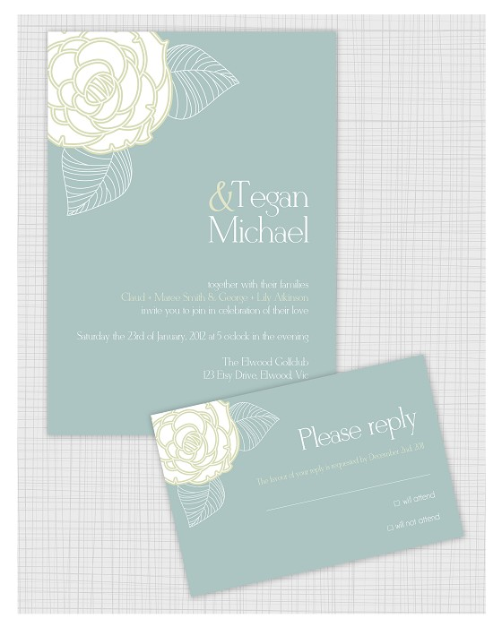 10 PSD Wedding Invitation Templates. Matching Reply RSVP