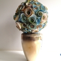 Paper Bloom Bouquet - Travel with Me - Recycled Atlas OOAK