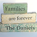 Personalised Families are Forever Word Block Set