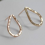 Raindrops post earrings/14ct gold-filled