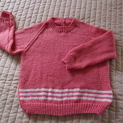 SIZE 3 - Hand knitted jumper