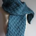 Stormy Sea -  Wool Alpaca Scarf + Bonus Brooch