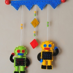 I am a Robot ~ Green and Yellow