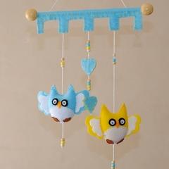 Hoot Hoot Cheeky Owl ~ Blue and Yellow