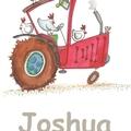 chooks on tractor-name print Farm print