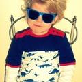 Dinosaur top, long sleeves.  Retro boy.