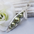 Peas In A Pod Necklace - Graduated Pearls Sterling Silver