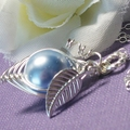 One Pea In A pod Necklace Sterling Silver Swarovski Pearls. Choose Your Color
