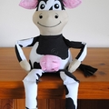 Cow Pattern PDF Sewing Pattern for Stuffed Cow - Cleo the Cow