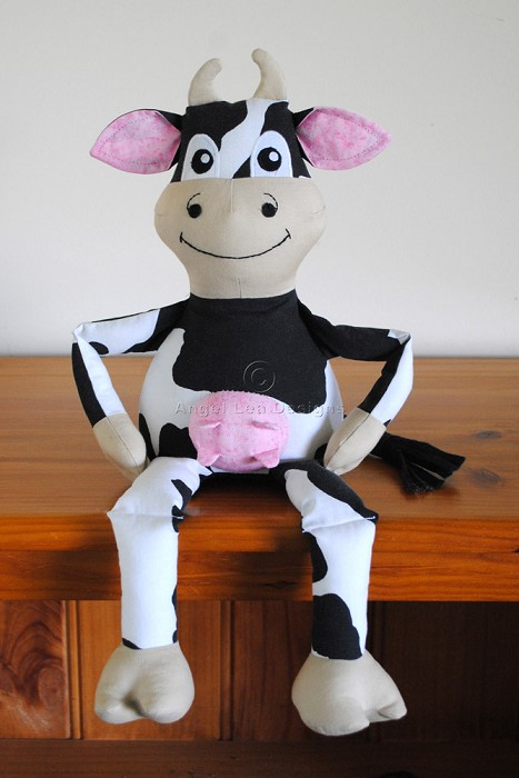 cow pattern pdf sewing pattern for stuffed cow