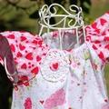 Carnival Dress - Strawberry Tea Party. birthday dress. peasant dress. shortcake