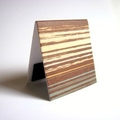 Magnetic bookmark (large) - brown textured stripe