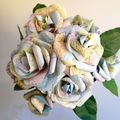 Recycled Paper Rose Bouquet - Maps, Get Well, Bon Voyage