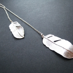 Feathers Lariat - Sterling Silver Lariat Necklace