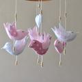Baby bird nursery mobile