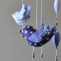 Baby bird nursery mobile