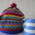 Funky Colourful Tea Cosy -Small to Medium Sized Pot - Hand knitted